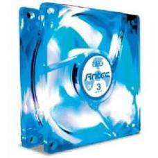 Antec TriCool 120mm Blue LED Case Fan with 3-Speed Switch, 120x120x25.4mm, 3/4-pin connectors, Speed: 1200~2000RPM