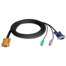 Aten KVM Cable SPHD15M - PS2M, PS2M, HD15M 1.2m 2L-5201P