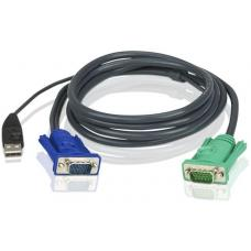 Aten 1.2m USB KVM Cable to suit CS8xU, CS174x, CS13xx, CS17xxA, CS17xxi CL5xxx, CL58xx 2L-5201U