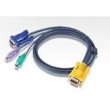 Aten KVM Cable SPHD15M - PS2M, PS2M, HD15M 1.8m 2L-5202P