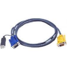 Aten KVM Cable SPHD15M - USB A M, HD15M 1.8m 2L-5202UP