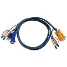 Aten 1.2m USB KVM Cable with Audio to suit CS173xB, CS173xA, CS175x 2L-5301U