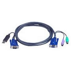 Aten KVM Cable PS2M, PS2M, HD15F - USB A M, HD15M 1.8m 2L-5502UP
