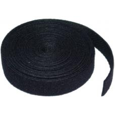 8Ware 25m Hook & Loop Continuous Double Sided Roll : 12mm Wide in Black 8WD-VELCT-25M