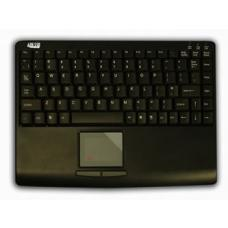 Adesso SlimTouch Mini Keyboard USB with TouchPad Black AKB-410UB