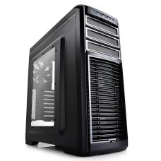 Deepcool Kendomen TI Mid-Tower Case, 5 Fans Pre-installed, Titianium CASE-KENDOMEN-TI