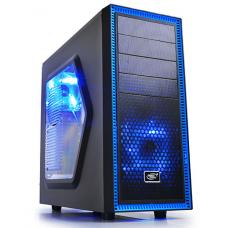 Deepcool Tesseract SW Black Mid Tower Case with Side Window Including 2 Blue 120mm LED Fans TESSERACT SW