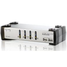 Aten 4 Port USB KVMP Switch with audio and USB 1.1 Hub - Cables Included CS1734AC-AT