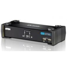 Aten 2 Port USB DVI KVMP Switch w/ USB 2.0 Hub and Audio - Cables Included CS1762A-AT-U