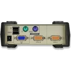 Aten 2 Port USB-PS/2 VGA KVM Switch - Cables Included CS82U-AT