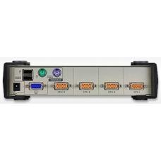 Aten 4 Port USB-PS/2 VGA KVM Switch - Cables Included CS84U-AT