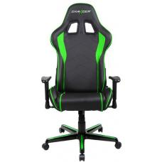 DXRacer F Series Gaming Chair, Sparco Style, Neck/Lumbar Support - Black & Green OH/FL08/NE