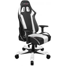 DXRacer KS06 Series Gaming Chair, Neck/Lumbar Support - Black & White OH/KS06/NW