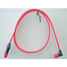 Serial ATA Cable SATA III 90degree Down Angle 26AWG 50cm - Red FC-5083
