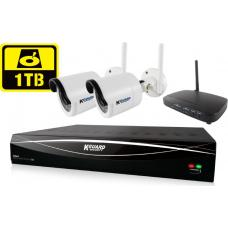 KGUARD HD481 4-CH Hybrid DVR with WiFi Receiver & 1TB HD481-2WIKT01-1TB