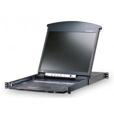 Aten Altusen 16 Port Rackmount USB-PS/2 Cat5 19' LCD KVM Over IP Switch with Daisy Chain KL1516AIN-AXA-AU