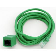 RJ45 Male to Female Cat 5e Network/ Ethernet Cable - 2m (Green) KO820U-2F