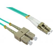LinkBasic Multi Mode OM4 LSZH Duplex LC-SC Fibre Optic Patch Cord 2 Metre FOMMD-OM4-LCSC-2