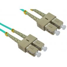 LinkBasic Multi Mode OM4 LSZH Duplex SC-SC Fibre Optic Patch Cord 3 Metre FOMMD-OM4-SCSC-3