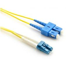LinkBasic Single Mode OS1 LSZH Duplex SC-LC Fibre Optic Patch Cord 10 Metre FOSMD-OS1-SCLC10