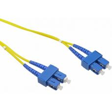 LinkBasic Single Mode OS1 LSZH Duplex SC-SC Fibre Optic Patch Cord 10 Metre FOSMD-OS1-SCSC10