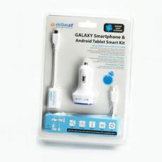 mbeat GALAXY Smartphone & Android Tablet OTG White Smart Travel Kit CAB-OTGMICROW