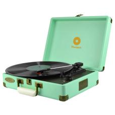 mbeat Woodstock Retro Turntable Player - Tiffany Blue MB-TR89TBL