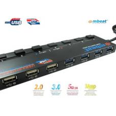 mBeat 7-Port USB 3.0 & USB 2.0 Hub Manager with Switches USB-M43HUB