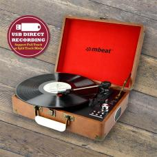 mbeat Retro Turntable Recorder with USB Direct Recording USBTR118