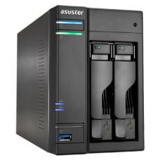 ASUSTOR AS6202T 2-Bay NAS, Quad-Core, 4GB DDR3L, GbE, USB 3.0, eSATA, HDMI, WoL, AES-NI, Lockable Tray AS6202T