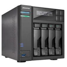 ASUSTOR AS6204T 4-Bay NAS, Quad-Core, 4GB DDR3L, GbE, USB 3.0, eSATA, HDMI WoL, AES-NI, Lockable Tray AS6204T
