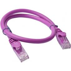 Cat 6a UTP Ethernet Cable, Snagless - 0.25m (25cm) Purple PL6A-0.25PUR