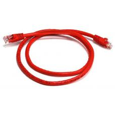 Cat 6a UTP Ethernet Cable, Snagless - 0.25m (25cm) Red PL6A-0.25RD