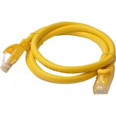 Cat 6a UTP Ethernet Cable, Snagless - 1m (100cm) Yellow PL6A-1YEL