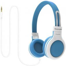 Promate 'Impulse' Kids safe Universal On Ear Wired Headset-Blue IMPULSE.BLUE