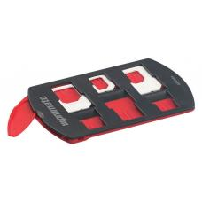 Promate 'SIMate' 6-in-1 SIM Card Holder for up to 6 SIM Cards w/Adapters - Black SIMATE.BLACK