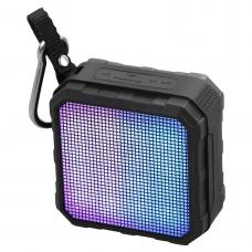 Promate 'Flash' Wireless Rugged Speaker w/LED Light Equaliser Display - Black FLASH.BLACK