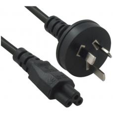 Power Cable from 3-Pin AU Male to IEC C5 Female plug in 1m RC-3084AU-010
