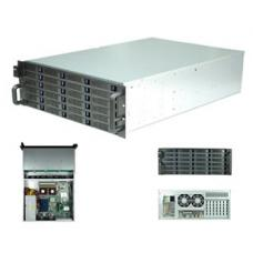 TGC-4324 Rack Mountable Server Chassis Case 4U 650mm Depth with 24 Bays Hot-Swap and Redundant 2U PSU Window