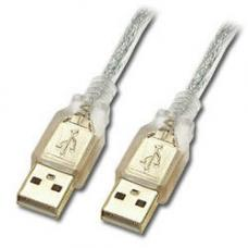 USB 2.0 Certified Cable A-A 3m Transparent Metal Sheath UL Approved UC-2003AA