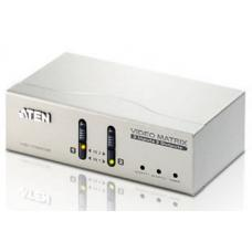Aten VanCryst 2 in/2 Out VGA Video Matrix Switch with Audio - 1920x1440 up to 65m VS0202-AT-U