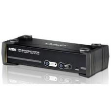Aten VanCryst 4 Port VGA Video Splitter over Cat5 with Audio and RS-232 - 1600x1200@60Hz or 450m Max VS1504T-AT-U
