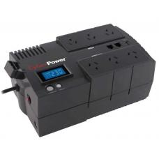 CyberPower BRIC-LCD 700VA/420W (10A) Line Interactive UPS - (BR700ELCD)-2 Yrs Adv.. Replacement incl. Int. Batteries BR700ELCD