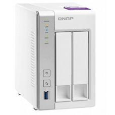 QNAP TS-231P 2-Bay TurboNAS, ARM Cortex-A15 dual-core 1.7Ghz, 1GB RAM, SATA 6Gb/s, 2x GbE LAN, 3 x USB3.0, HDD hot-swappable, 2YR AR wty TS-231P