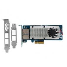 QNAP Dual-port 10 Gigabit Network Expansion Card for rackmount and tower models (10GBASE-T interface) LAN-10G2T-X550