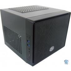 "Cooler Master Elite110 Mini ITX Case w/ Front Mesh. Dual USB3.0 Front. Supports up to 3x 3.5"" or 4x 2.5"" Drives Front 120mm fan and side 80mm fan included. NO PSU(Supports Standard ATX)"