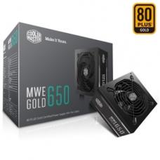 Cooler Master 650W MWE 80 PLUS Gold Fixed Flat Cables Power Supply