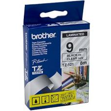 Brother TZe121 Labelling Tape 9mm x 8m - TZE-121