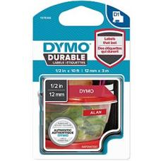 Dymo D1 White on Red 12mm x 3m 12mm x 3m - 1978366
