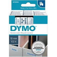 Dymo Blue on White 12mmx7m Tape 12mm x 7m - S0720540